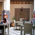 Cortile interno del Riad