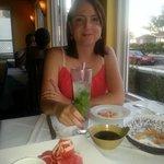 My wife with her mojito and Tuna Tataki to share :)