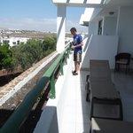 huge balcony