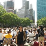 Musical entertainment at Bryant Park