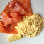 Salmon and eggs - one of many breakfast choices