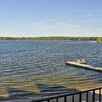 View from Sunrise Villa, Madden's Resort on Gull Lake, Brainerd MN