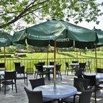 Golf Club House patio & view, Madden's Resort on Gull Lake, Brainerd MN