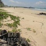 Playa desde el bar