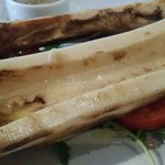 A starter sized portion! Yummy marrowbone & toast. An amazing experience. Cooked to perfection.