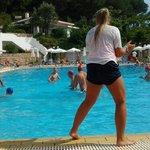 enjoying watching tbe water polo