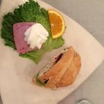 Chicken Salad Sandwich with Arctic Freeze