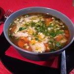 Caldo de pollo, so good!