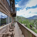 Our Deck surrounds the Lodge
