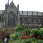 Gardens with cathedral backdrop
