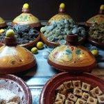 Pâtisseries orientales à la soirée marocaine