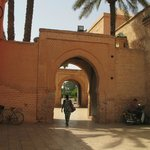 Through the archway to the park