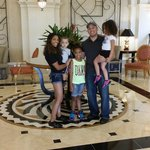 My lovely family in lobby