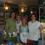 в кафе Стеллы (хозяйка крайняя справа)