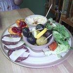 Mezze platter for two