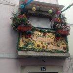kleurrijk balkon
