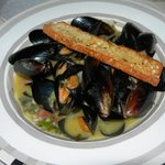 Appetizer of Mussels for dinner
