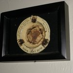 This old ashtray, mounted on a wall, would not be permitted today, of course.