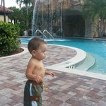 My lil man at pool Sept 2013