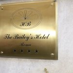 Hotel front plate.