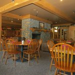 Indoor dining offers a great ambiance for any meal time