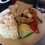 breakfast veggies omelette