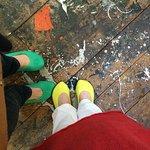 Jackson Pollock studio floor with his paint.