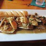 The chicken marsala with mushroom ravioli dish