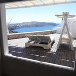 Honeymoon suite balcony through the window