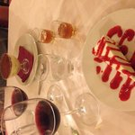ending our meal with an amazing dessert and dessert wine!