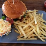 Big buoy burger with cheese & bacon