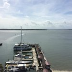 Top of the lighthouse looking at Daufuskie Island