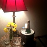 We came home from Yosemite to find our bottle of Champagne on ice :)