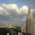 vista do apartamento na direção do Parque Shinjuku
