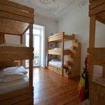 9-bed co-ed dorm room