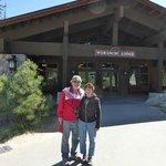 Front entrance of Wuksachi Lodge Sequoia