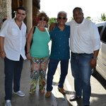 With Carlos Manuel, our taxi driver from Airport (Leonardo/Asael VIP Service)