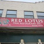 Red Lotus Sign