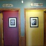 Gallaways Restaurant - Which is the Men's Room?