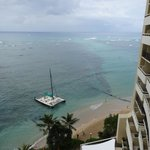 the view from our ocean front room on the SPG preferred floor