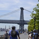 Biking on Manhattan water front