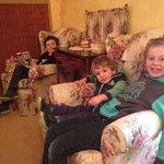 My three boys enjoying their loft accomm