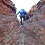 A lot of climbing, sometimes through difficult terrain.