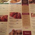 left side of the menu