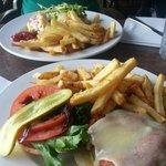 Shrimp melt and Oceanwise Burger