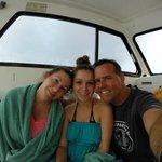 Pre-dive family photo