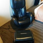 Massage chair provided for long walk for shopping at Ginza