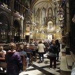 O interior da Basílica de Montserrat