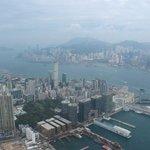 九龍半島、香港島の眺め