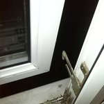 the catch on the window was broken - ground floor room, on a roasting day.